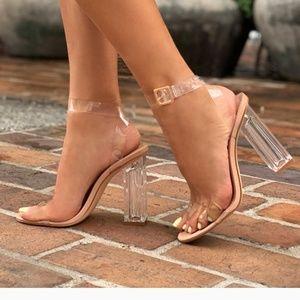 (NEW) Transparent glass heel